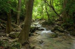 Erawan Wasserfälle Lizenzfreie Stockbilder