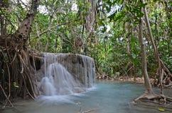 Erawan Wasserfall Stockbild