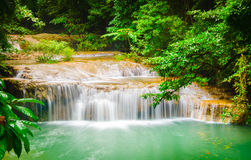 Erawan Wasserfall Lizenzfreie Stockfotografie