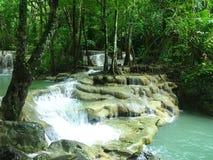 Erawan Wasserfall lizenzfreies stockfoto