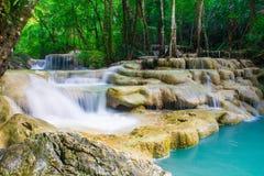 Erawan-Wasserfall, Kanchanaburi, Thailand Lizenzfreies Stockfoto