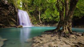 Erawan-Wasserfall, Kanchanaburi, Thailand stockbild
