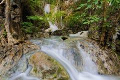 Erawan-Wasserfall, Kanchanaburi, Thailand lizenzfreie stockbilder