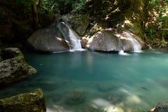 Erawan Wasserfall, Kanchanaburi, Thailand Stockbilder