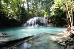 Erawan Wasserfall, Kanchanaburi, Thailand Lizenzfreies Stockfoto