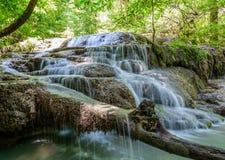 Erawan Wasserfall, Kanchanaburi, Thailand Stockfoto