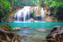 Erawan-Wasserfall Nationalpark Stockbild