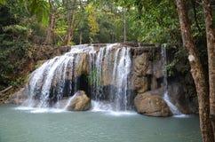 Erawan-Wasserfall Nationalpark Stockfotos