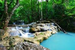 Erawan Wasserfall, Thailand Stockbild