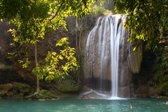 Erawan Wasserfall, Thailand Lizenzfreies Stockfoto