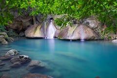 Erawan Wasserfall in Thailand Lizenzfreies Stockbild