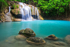 Erawan-Wasserfall in Thailand Lizenzfreies Stockbild