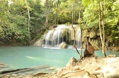 Erawan-Wasserfall Thailand Stockfotos