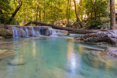 Erawan water fall locate in Thailand national park Stock Images