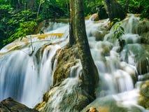 Erawan waterfall.  Royalty Free Stock Photos