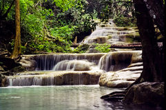 Erawan Waterfall. The Erawan Waterfall ,Kanchanaburi, Thailand Royalty Free Stock Images