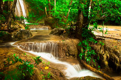 Erawan waterfall . Royalty Free Stock Image