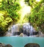Erawan Waterfall. First level of Erawan Waterfall in Kanchanaburi Province, Thailand Stock Photos
