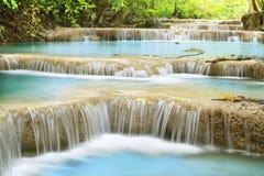 Erawan Waterfall. First level of Erawan Waterfall in Kanchanaburi Province, Thailand Royalty Free Stock Image