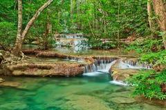 Erawan Waterfall. In Kanchanaburi province, Thailand Stock Photography