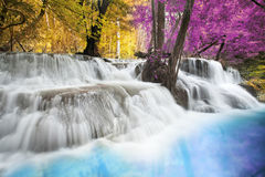 Erawan Waterfall. Level six of Erawan Waterfall in Kanchanaburi Province, Thailand