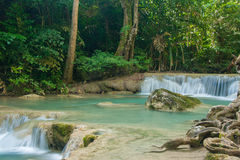 Erawan waterfall. A beautiful Erawan waterfalls with clear water Royalty Free Stock Images
