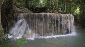 Erawan waterfall stock footage
