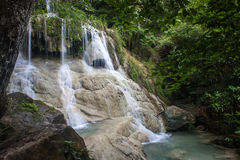 Erawan waterfall Royalty Free Stock Photography
