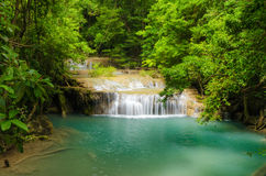 Erawan waterfall Stock Image