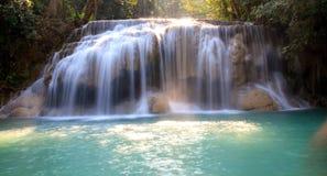 Erawan Waterfall. With emerald green water. Kanchanaburi, Thailand Royalty Free Stock Image