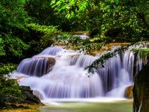 Erawan waterfall.  Stock Photo