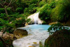 Erawan waterfall. Fourth cascade of Erawan waterfall in Erawan National Park, Thailand Royalty Free Stock Images