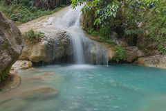 Erawan waterfall. Waterfall in green forest in Thailand Stock Photography