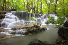 Erawan waterfall II Royalty Free Stock Photo