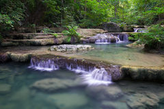Erawan Waterfall In Thailand Royalty Free Stock Image