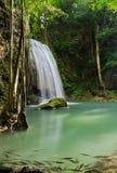 Erawan waterfall Royalty Free Stock Images
