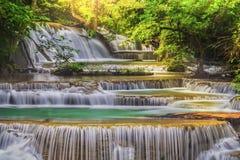 Erawan Waterfall. In Kanchanaburi Province, Thailand Stock Photo