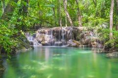 Erawan waterfall. Kanchanaburi province Thailand Royalty Free Stock Photography