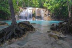 Erawan waterfall. Kanchanaburi province Thailand Asia Stock Photo