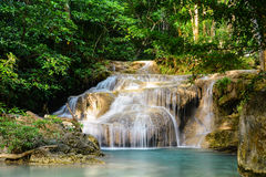 Erawan waterfall in kanchanaburi province ,Thailand Stock Photos