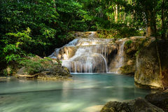 Erawan waterfall in kanchanaburi province ,Thailand Stock Photography