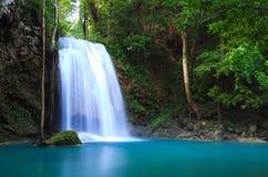 Erawan Waterfall in Kanchanaburi, Thailand. Erawan Waterfall in Kanchanaburi province, western of Thailand Royalty Free Stock Image
