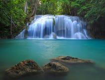 Erawan Waterfall, Kanchanaburi, Thailand Royalty Free Stock Photography