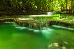 Erawan waterfall. Royalty Free Stock Photo