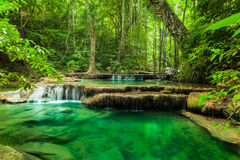 Erawan waterfall. Royalty Free Stock Photography