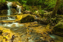 Erawan waterfall. Royalty Free Stock Images
