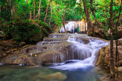 Erawan Waterfall, Kanchanaburi, Thailand. Royalty Free Stock Photography