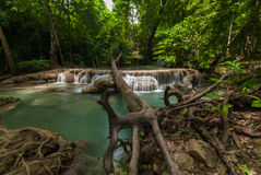 Erawan Waterfall in Kanchanaburi Royalty Free Stock Image