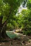 Erawan Waterfall in Kanchanaburi Stock Images