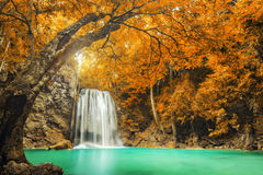 Erawan Waterfall in Kanchanaburi, Thailand Royalty Free Stock Photo
